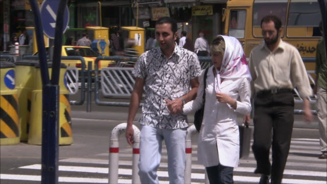 cu traffic on street, tehran, iran - iran stock videos and b-roll footage