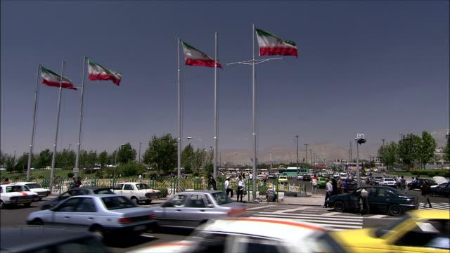 ws traffic on street, tehran, iran - tehran stock videos & royalty-free footage