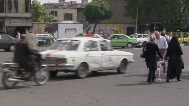 ms traffic on street, tehran, iran - tehran stock videos and b-roll footage