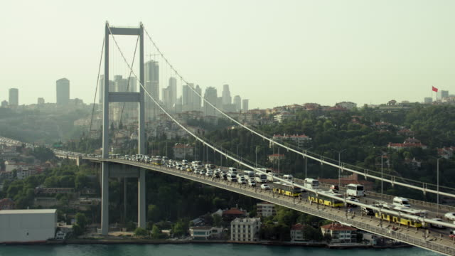 Traffic On The Bosphorus Bridge In Istanbul