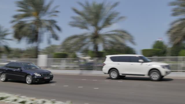 Traffic on the Corniche Road, Abu Dhabi, United Arab Emirates, Middle East, Asia