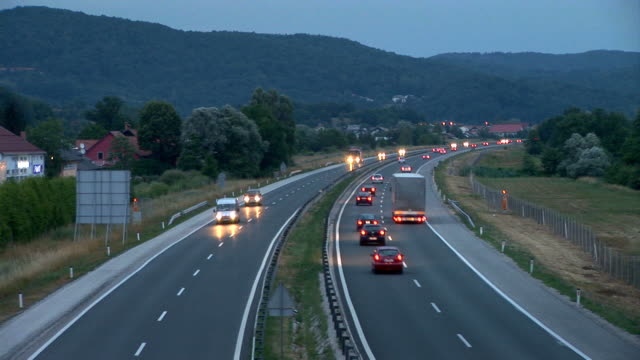 hd: traffic on the highway - moving past stock videos & royalty-free footage