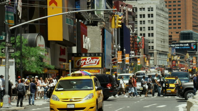 T/L, MS, Traffic on Times Square, Manhattan, New York City, New York, USA