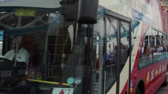 ms pan traffic on tower bridge / london, united kingdom - 2010 stock videos & royalty-free footage