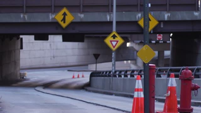 Traffic on underpass