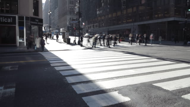 traffic outside grand central terminal - 42nd street stock videos & royalty-free footage