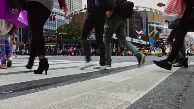 traffic outside penn station, manhattan - new york city penn station stock videos & royalty-free footage