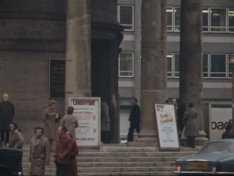 traffic passes by all souls church in london england. - 1976 stock videos and b-roll footage