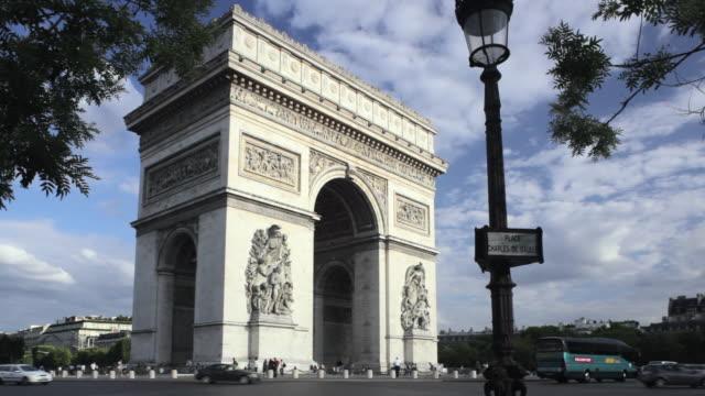 WS Traffic passing around  Arc de Triomphe, Place Charles de Gaulle, Paris, France