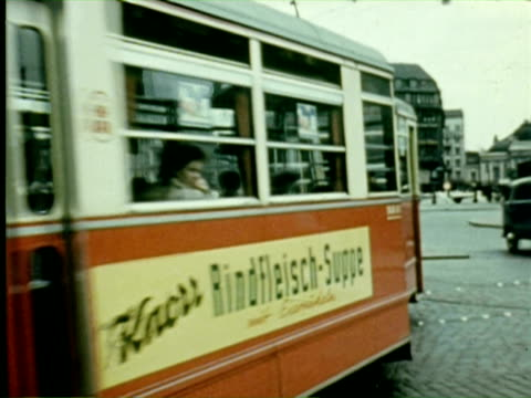 vidéos et rushes de ms traffic police doing their job  audio / germany - 1956