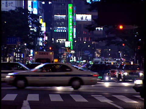 traffic pours through city centre japan - 1991 stock videos and b-roll footage