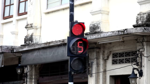 Traffic Signal ,number count down