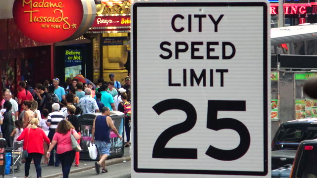 Traffic Signs, Times Square, New York City