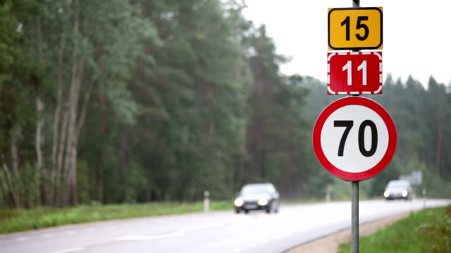 traffic signs - speed limit sign stock videos & royalty-free footage