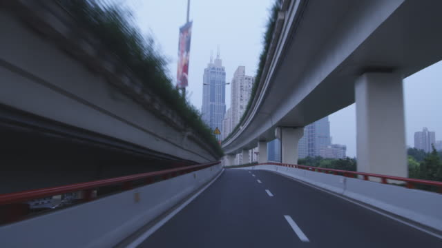 Traffic speeds along a road in Shanghai.