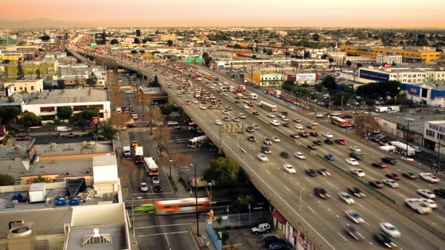 traffic speeds along interstate 10 in los angeles. - interstate 10 stock videos & royalty-free footage