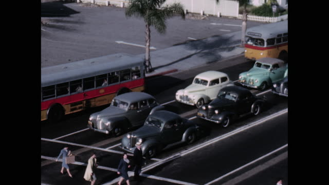 1948 traffic stop montage - 1940 stock videos & royalty-free footage