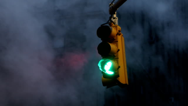 traffic stoplight in new york city - traffic light stock videos & royalty-free footage