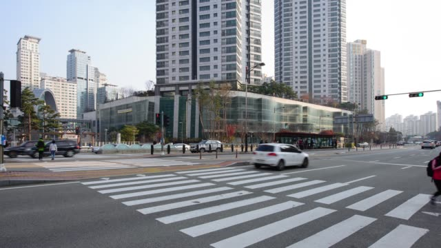 traffic surroundings of dongtan metapolis building(local landmark) - local landmark stock videos and b-roll footage