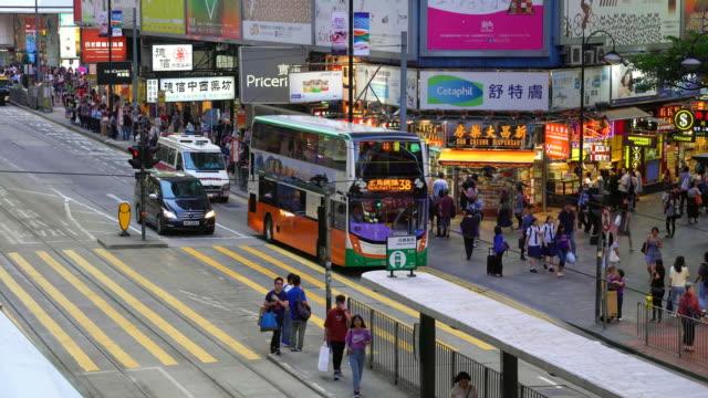 Traffic time lapse in Hong Kong Causeway Bay