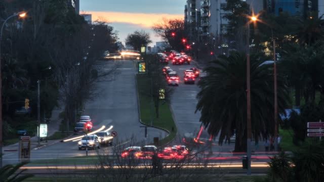 Traffic time lapse in Puertito del Buceo neighbourhood, Montevideo, Uruguay