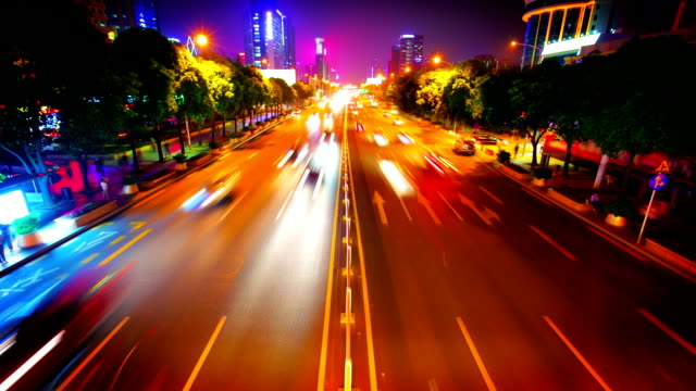 traffic to night - street light stock videos & royalty-free footage