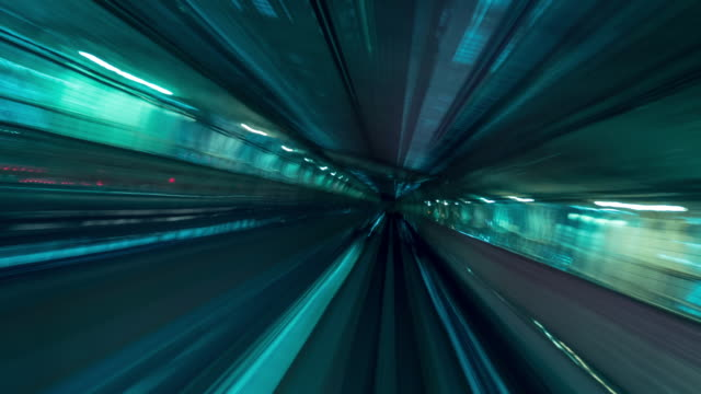 traffic train tunnel abstract,japan - long exposure stock videos & royalty-free footage