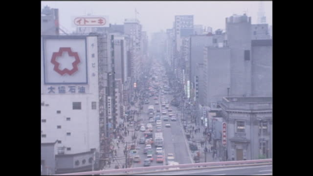Traffic travels on Ginza Street during a major renovation.