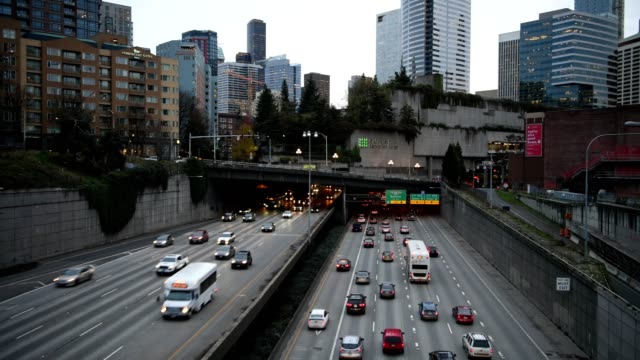 traffic - seattle stock videos & royalty-free footage