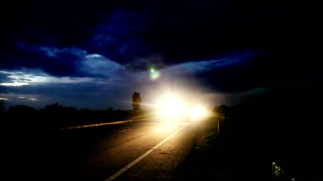 traffic - headlight stock videos & royalty-free footage