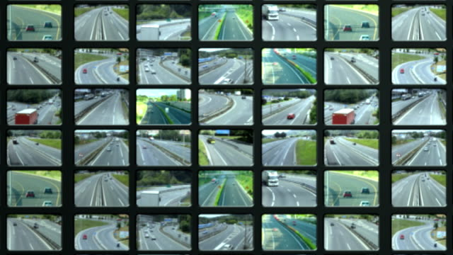 traffic  videowall - cross section stock videos & royalty-free footage
