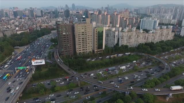 trafic de seoul - 韓国点の映像素材/bロール