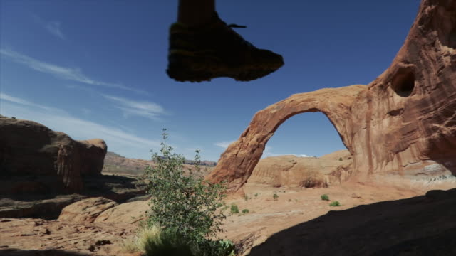Trail running the Colorado plateau: Corona arch near Moab