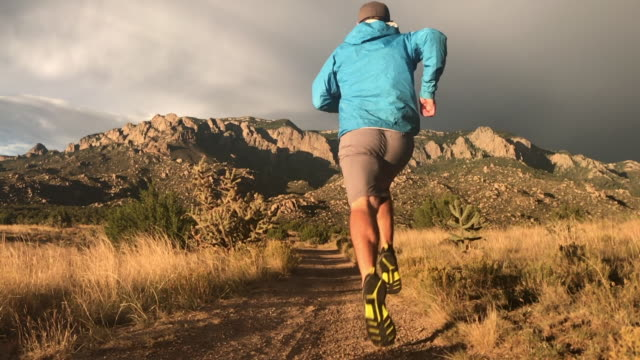 trail running - mature men stock videos & royalty-free footage