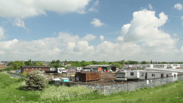 trailer park in canvey island, united kingdom - trailer home stock videos & royalty-free footage