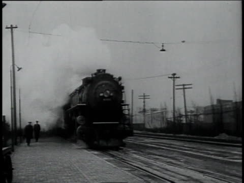 train arriving at a station / tuscon, arizona, united states - 1934 stock videos & royalty-free footage