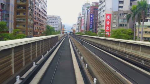 taipei, taiwan -  mrt train arriving on the platform of taipei mrton - taipei stock videos & royalty-free footage