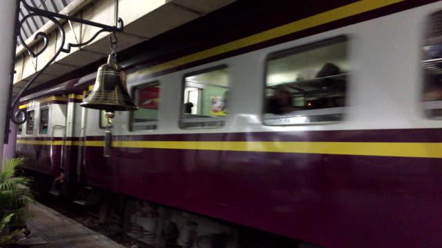 train at bang sue railway station, thailand - locomotive stock videos & royalty-free footage
