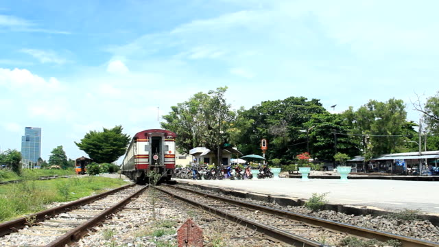 Train at railway station