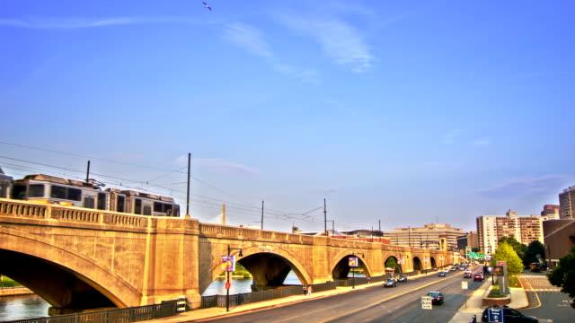 ボストンの鉄道橋 - railway track点の映像素材/bロール