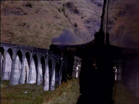 ws train crossing mores / fort william, maillaig, highlands, scotland - scottish highlands stock videos and b-roll footage
