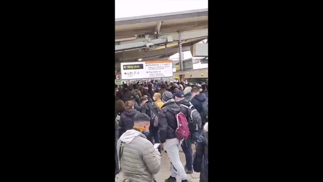 train delays led to large crowds congregating on a platform at london's willesden junction station on monday morning, february 22. video shared by... - 18 19 years stock videos & royalty-free footage