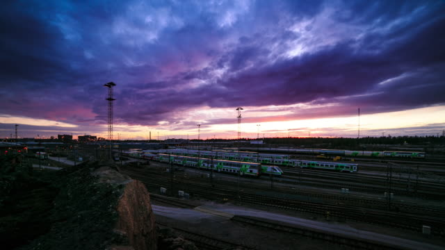 stockvideo's en b-roll-footage met train depot - train vehicle