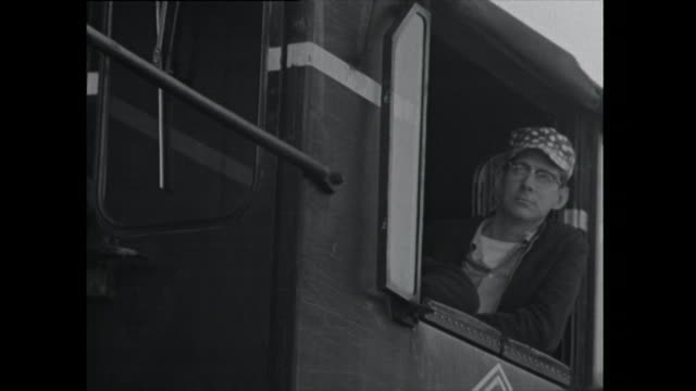 train drivers look out window - 1961 stock videos & royalty-free footage