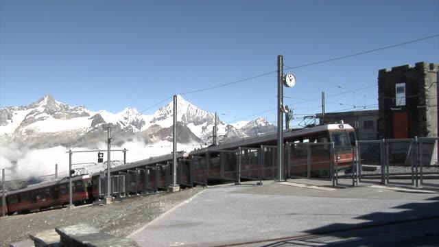 A train entering Gornergrat station