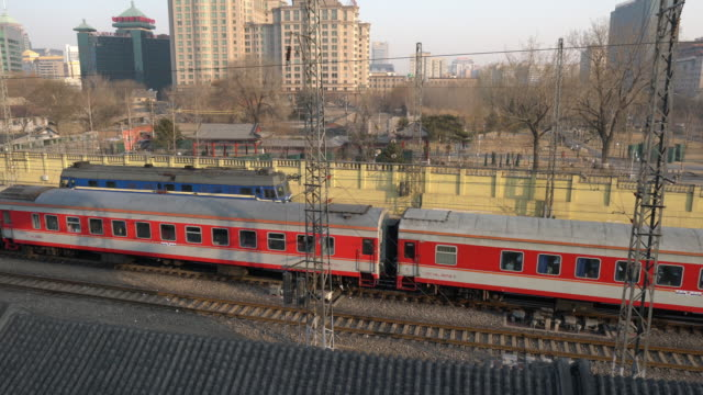 4k vdo : train in beijing - land vehicle stock videos and b-roll footage