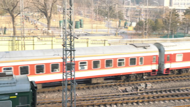 4k vdo : train in beijing - the past stock videos and b-roll footage