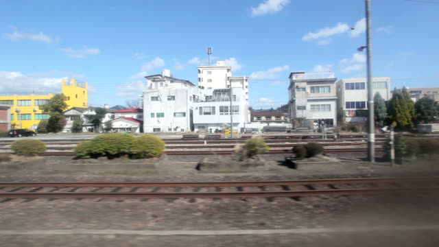 vídeos de stock, filmes e b-roll de trem na cidade de fukuoka, japão - prefeitura de fukuoka
