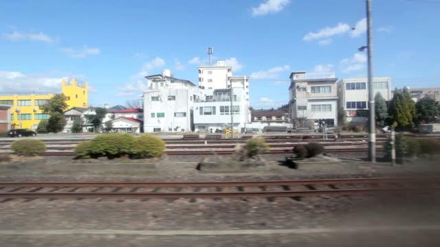 train in the fukuoka city, japan - fukuoka prefecture stock videos & royalty-free footage