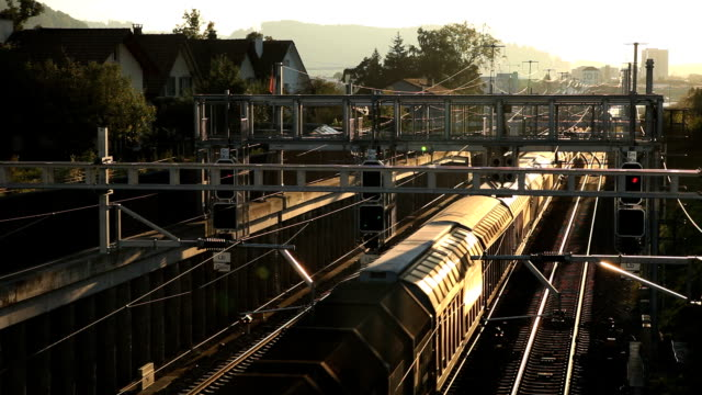 train in the sunset - cargo train stock videos & royalty-free footage